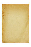 Altes und schmutziges Blatt Papier Lizenzfreies Stockbild