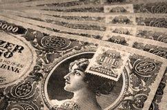 Altes ungarisches Geld mit Stempel Stockbilder