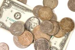 Altes US-Bargeld Stockfotos
