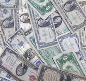Altes US-Geld Stockfotografie