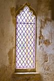Altes verbleites Abteifenster Stockbilder