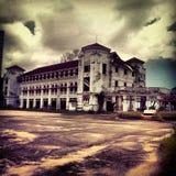 Altes verfallenes rustikales Gebäude Stockfoto