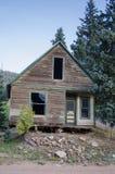 Altes verlagertes Gebäude oder Haus in Victor Colorado Lizenzfreie Stockbilder