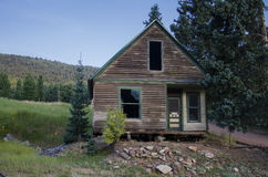 Altes verlagertes Gebäude oder Haus in Victor Colorado stockfoto