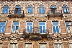 Altes verlassenes Backsteinhaus Lizenzfreie Stockbilder