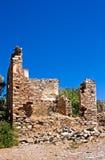 Altes verlassenes griechisches/türkisches Dorf von Doganbey, die Türkei Stockfotografie