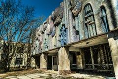 Altes verlassenes Haus in der Geisterstadt von Pripyat, Ukraine Konsequenzen einer Kernexplosion am Kernkraftplan Tschornobyls lizenzfreie stockfotografie