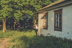 Altes Verwaltungshaus in der polnischen Art im Dorf von Vidzy, Vitebsk-Region Lizenzfreies Stockbild