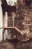 Altes Verwaltungshaus in der polnischen Art im Dorf von Vidzy, Vitebsk-Region Lizenzfreie Stockfotos