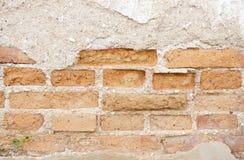 Altes verwittertes Backsteinmauerfragment Lizenzfreies Stockfoto