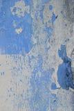 Altes Wandbeschaffenheitsschmutz-Hintergrund, Blaues und weißes Schmutz backg Stockfoto