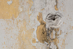 Altes Wandbeschaffenheitsschmutz-Hintergrund-, Gelbes und weißesweinlese-BAC Lizenzfreies Stockbild