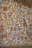 Altes Wandgemälde an archäologischer Fundstätte Huaca De-La Lunas - Trujillo, Peru Stockbild