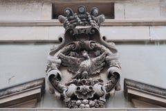 Altes Wappen Symbolansicht, Acireale Lizenzfreies Stockbild
