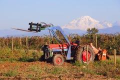 Altes Washington Farm Tractor Lizenzfreie Stockfotos