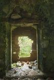 Altes Wassertausendstel bricked herauf Tür. Stockfoto