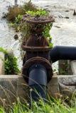 Altes Wasserventil Stockfoto