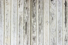 Altes Weiß gemalte hölzerne Wand Lizenzfreies Stockfoto