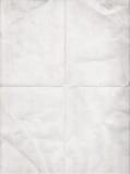 Altes Weißbuch gefaltet in vier Lizenzfreie Stockfotografie