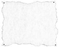 Altes Weißbuch mit Nägeln vektor abbildung