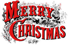 Altes Weihnachtsplakat zackig. Lizenzfreie Stockbilder