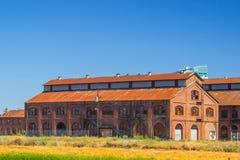 Altes Weinlese Raiload-Wartungs-Gebäude Lizenzfreie Stockfotos