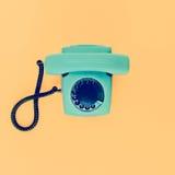 Altes Weinlese-Telefon Stockbild