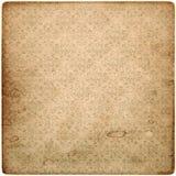 Altes Weinleseschmutz-Papierblatt mit Muster Stockfotografie