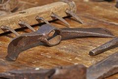 Altes Werkzeug im Bauernhof Lizenzfreie Stockfotos