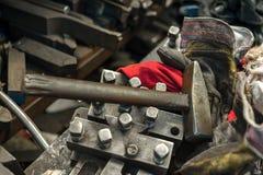 Altes Werkzeugnahaufnahmefoto Lizenzfreie Stockbilder