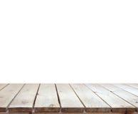 Altes wooddesk mit weißem Hintergrund lizenzfreie stockfotos