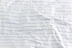 Zerknittertes Papier Lizenzfreies Stockbild