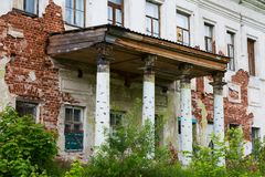 Altes zerstörtes Haus stockfotografie