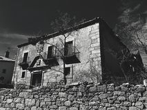 Altes Ziegelstein-Haus lizenzfreies stockfoto