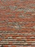 Altes Ziegelsteindach Stockbilder