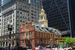 Altes Zustand-Haus, Boston, MA, USA Stockfotografie