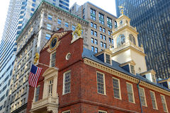 Altes Zustand-Haus, Boston, MA, USA stockfotos