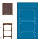 Altezza della mobilia Immagini Stock