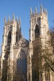 Altezza di fronte della cattedrale di York Fotografia Stock
