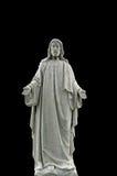 Altezza esposta all'aria del cimitero del Jesus isolata sul nero Fotografie Stock