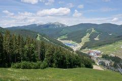 Altezze della montagna e legno enorme Fotografia Stock Libera da Diritti