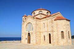 ALTEZZE DI AKAMA, CIPRO: La chiesa ortodossa di Agios Georgios immagini stock