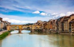 Altgold der Brücke in Florenz Lizenzfreie Stockfotografie