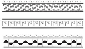 Altgriechische Randmuster Stockbilder