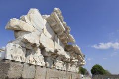 Altgriechische Stadt von Pergamon in Bergama, die Türkei Stockbilder