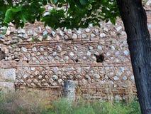 Altgriechische Stein-und Fliesen-Wand, Schongebiet von Apollo, Berg Parnassus, Griechenland Lizenzfreie Stockfotografie