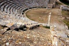 Altgriechische Theaterruinen, Sizilien Stockbild