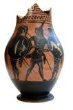 Altgriechische verzierter Behälter stockfoto