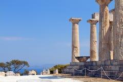 Altgriechischer Tempel bei Aegina, Griechenland Lizenzfreie Stockfotografie