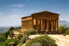 Altgriechischer Tempel von Concordia Lizenzfreie Stockfotos